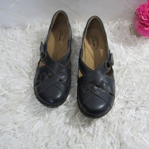 Clarks Blue Leather Loafers